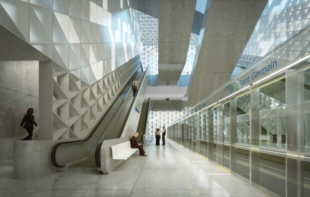 Architram – Métro ligne B - Stations St. Germain, Mabilais, Colombier, Gares