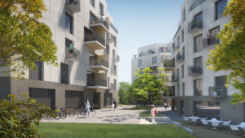 Architram – Immeubles à affectation mixte Chêne 17–19