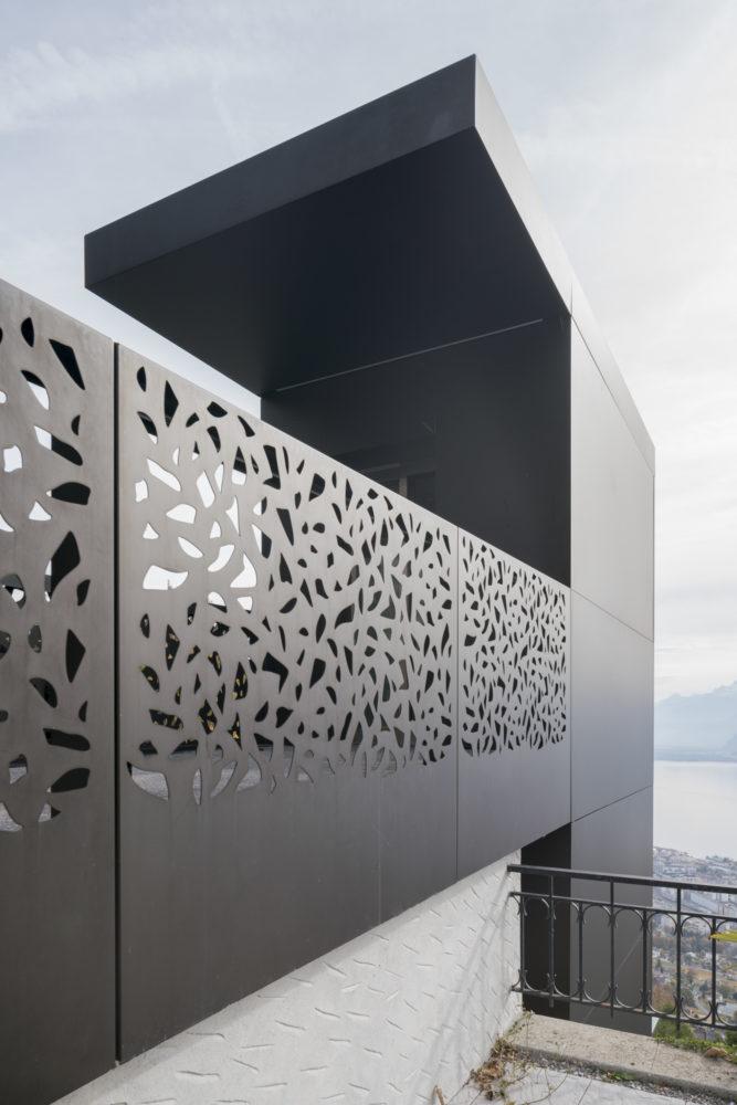 Architram – Ascenseur et passerelle du funiculaire