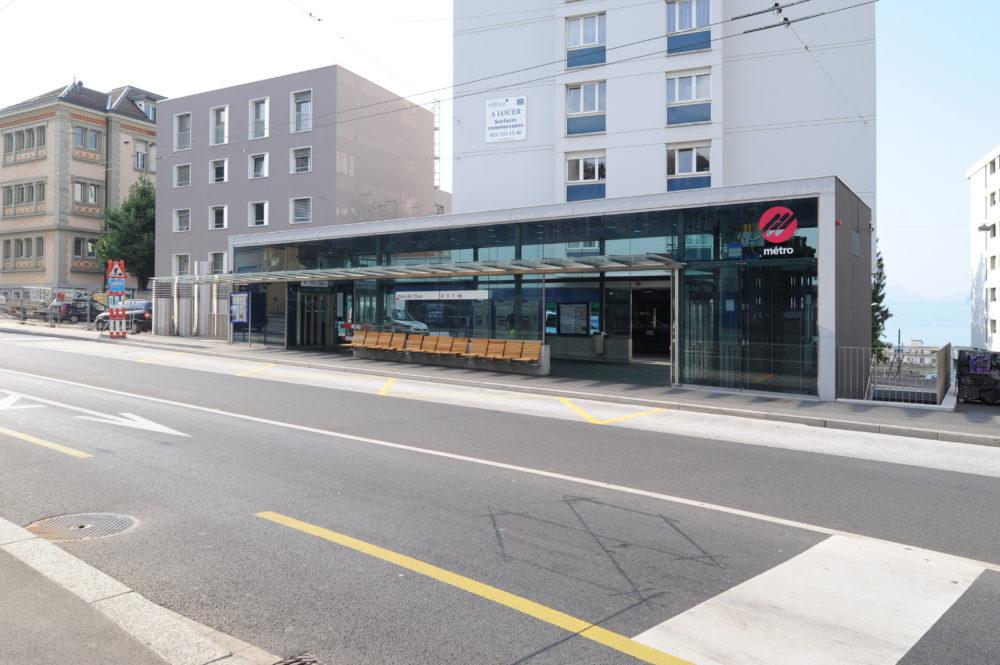 Architram – Métro M2 – Stations CHUV et Ours
